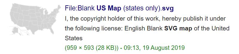 US SVG map