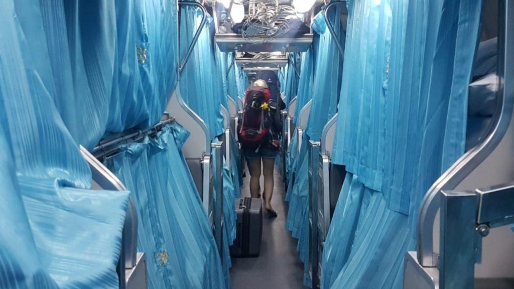 overnight train Thailand